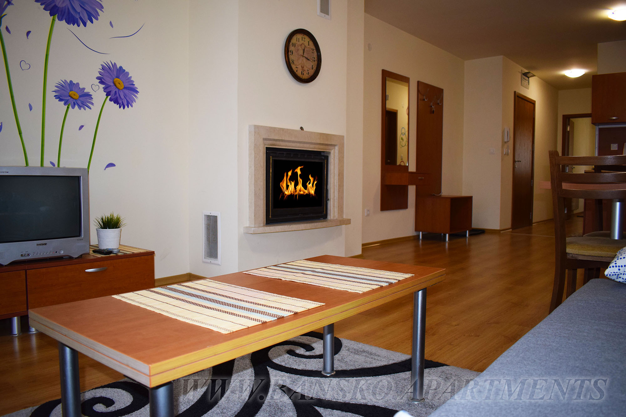 Apartment for Rent with a fireplace